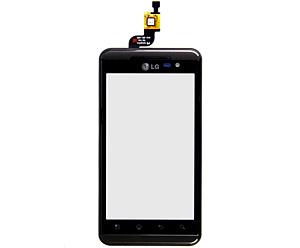 LG P920 Optimus 3D Frontcover met Touch Unit Zwart